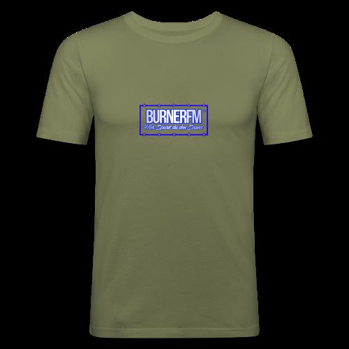 BurnerFM Hier Sürst du den Sound - Männer Slim Fit T-Shirt