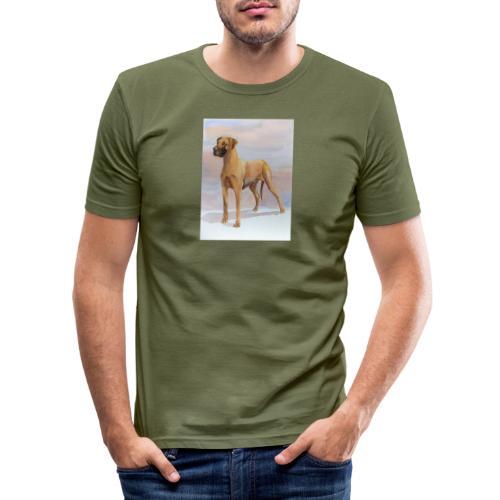 Great Dane Yellow - Herre Slim Fit T-Shirt