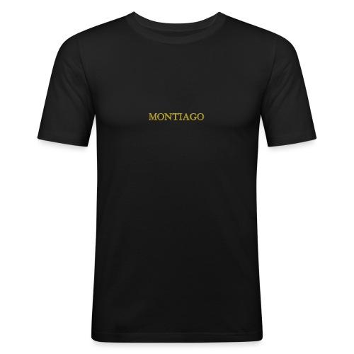 MONTIAGO LOGO - Men's Slim Fit T-Shirt