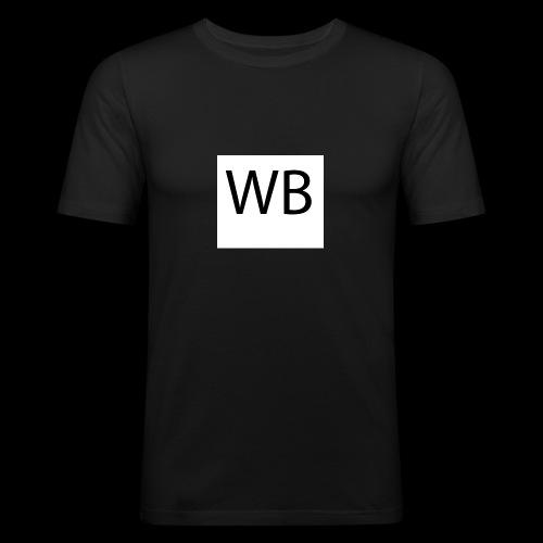 WB Logo - Männer Slim Fit T-Shirt