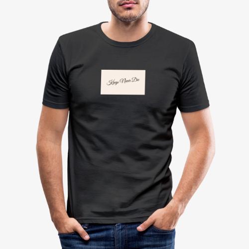 Kings Never Die - Men's Slim Fit T-Shirt