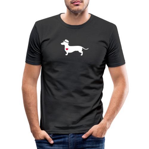 Dackelliebe -center- Der coole DonWaldino - Männer Slim Fit T-Shirt