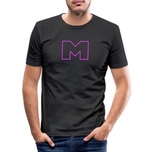 Meihemi M-logo - Miesten tyköistuva t-paita