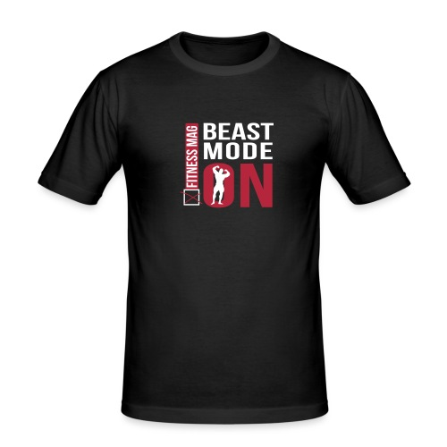 beast mode on new - T-shirt près du corps Homme