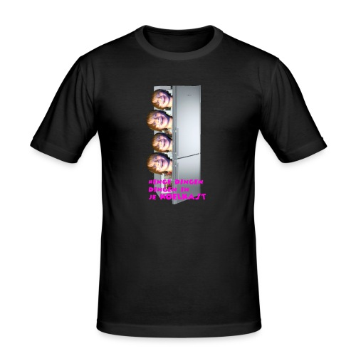 #enge_dingen_in_je_koel_kast - Mannen slim fit T-shirt