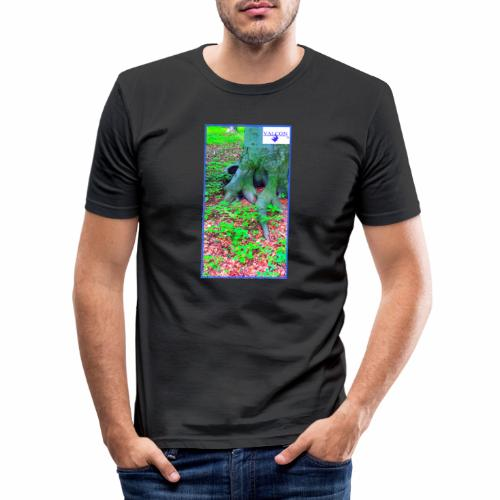 Natur Baum Wurzeln Maria 12 - Männer Slim Fit T-Shirt