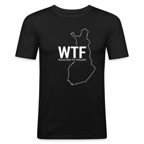 Kotiseutupaita - WTF - Miesten tyköistuva t-paita