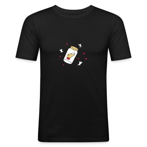 Finger Zähne Blut blood teeth Halloween Mafia Game - Männer Slim Fit T-Shirt