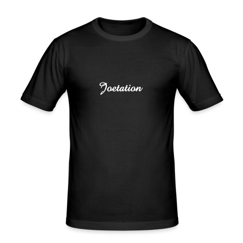White Text Joetation Signature Brand - Men's Slim Fit T-Shirt