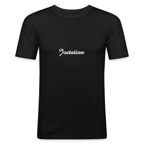 White Text Joetation Signature Brand - Men's Slim Fit T-Shirt