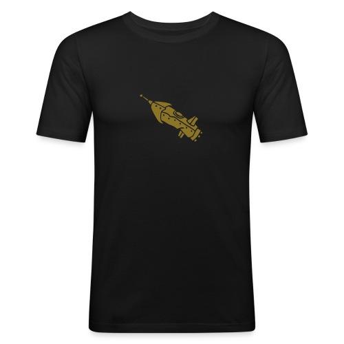 space shuttle space ship Rakete rocket satellite - Männer Slim Fit T-Shirt