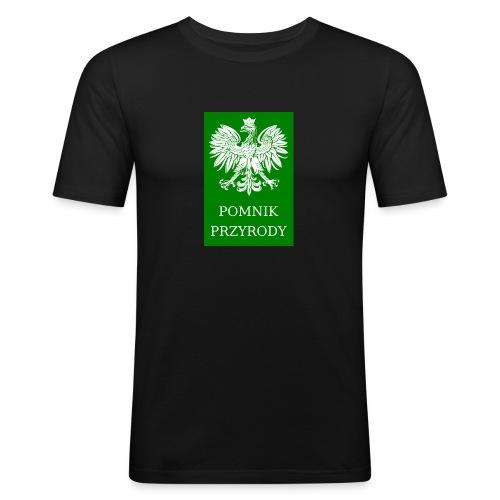 POL_Pomnik_Przyrody-svg - Obcisła koszulka męska