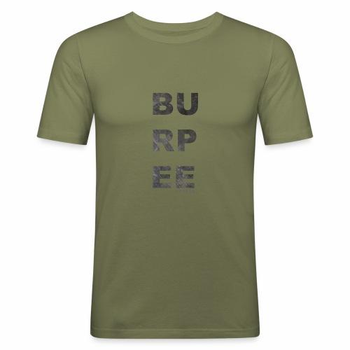 CF Naantalin burpeepainatus - Miesten tyköistuva t-paita