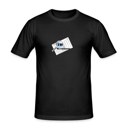 The scrutineer logo - Men's Slim Fit T-Shirt