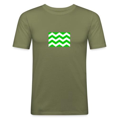 Vlag westland kassen - Mannen slim fit T-shirt