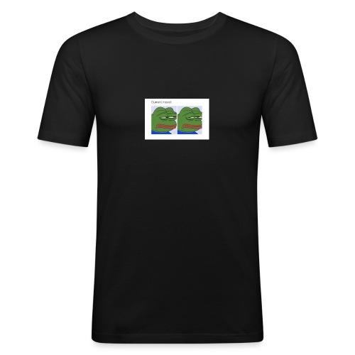 Depressed Froggo // Current Mood - Men's Slim Fit T-Shirt