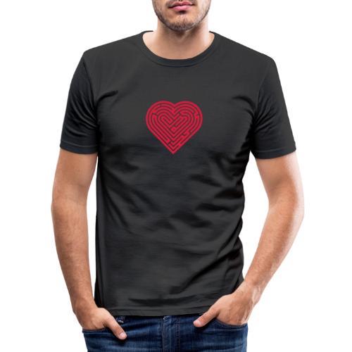 Labyrinth Heart - Men's Slim Fit T-Shirt