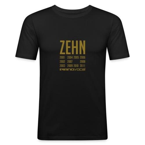 shirt zehn - Männer Slim Fit T-Shirt