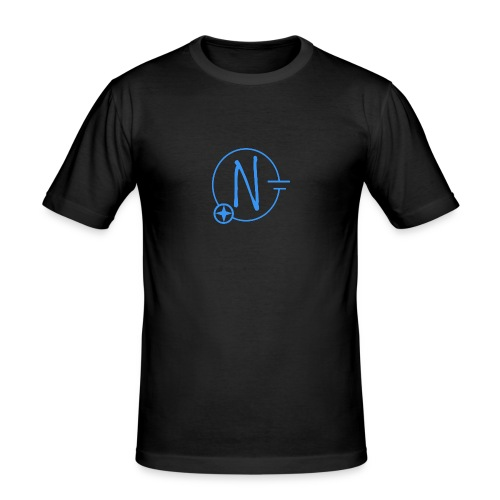 Logo1 blau - Männer Slim Fit T-Shirt