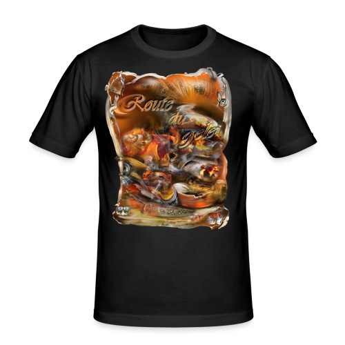 route du gelei - Mannen slim fit T-shirt