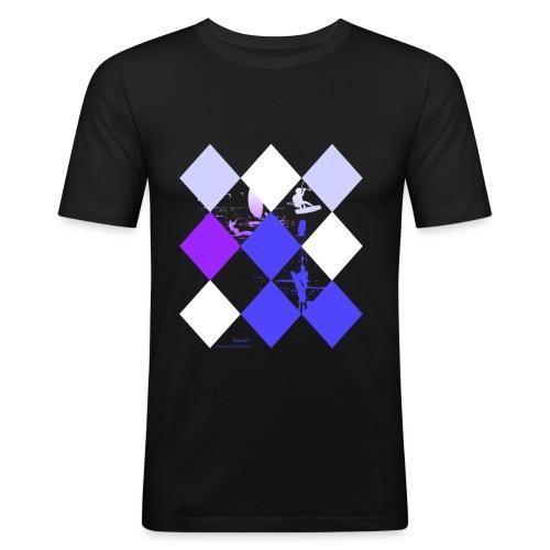 Kitesurfing shapebluewhite - Männer Slim Fit T-Shirt