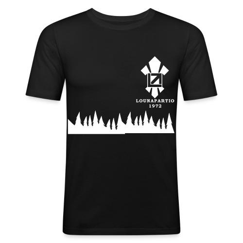 louvaatelogo - Miesten tyköistuva t-paita