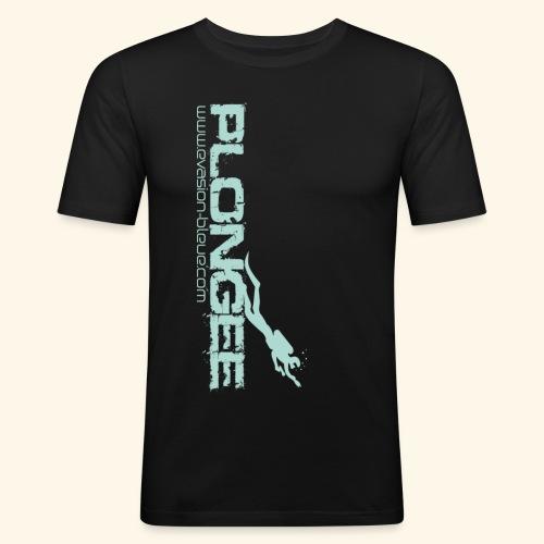 Plongée Evasion Bleue - T-shirt près du corps Homme