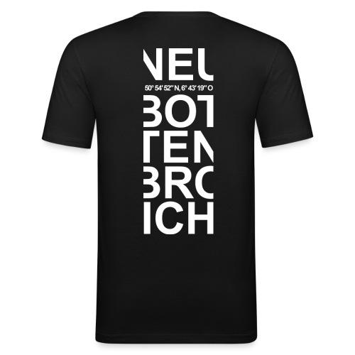 NeuBo Streifen Henry - Männer Slim Fit T-Shirt