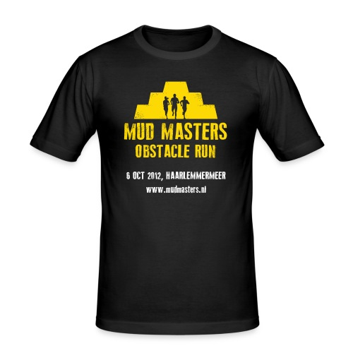 tshirt front - Mannen slim fit T-shirt