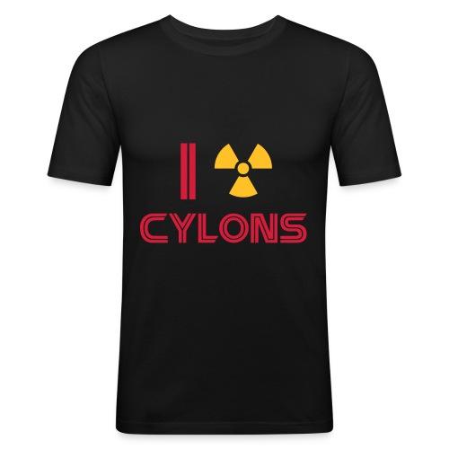 cylon red - Men's Slim Fit T-Shirt