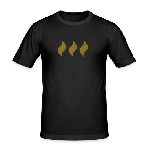 logo flames - Männer Slim Fit T-Shirt