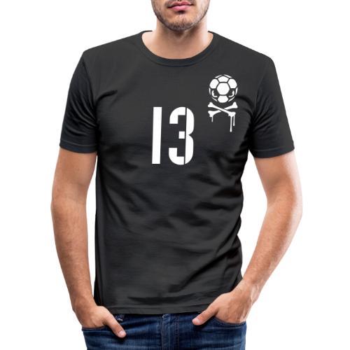 skull 13 1c inv - Männer Slim Fit T-Shirt