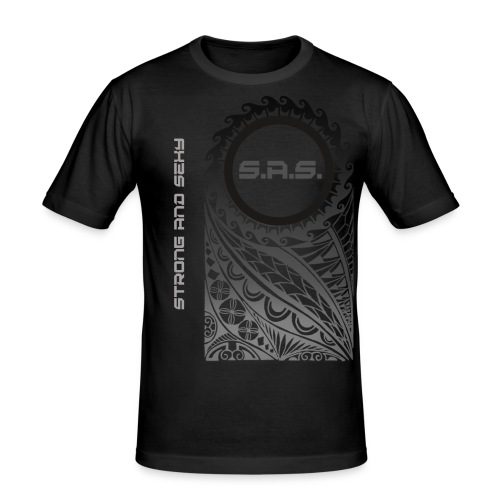 strong and sexy png - Mannen slim fit T-shirt