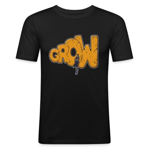 Final grow shirt black - Men's Slim Fit T-Shirt