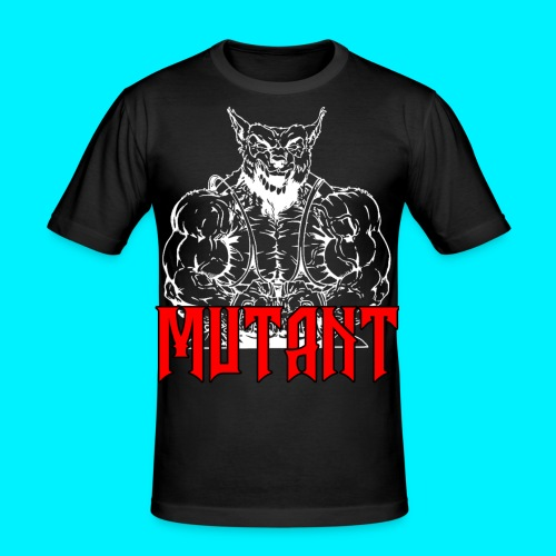 mutant white png - Maglietta aderente da uomo