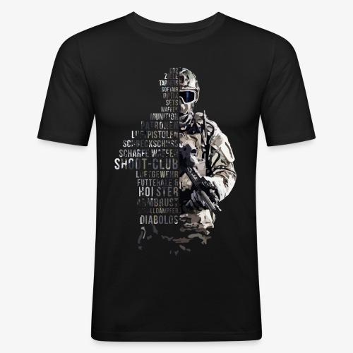 shoot club Soldat - Männer Slim Fit T-Shirt