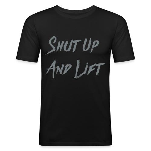 shutup2 png - Slim Fit T-shirt herr