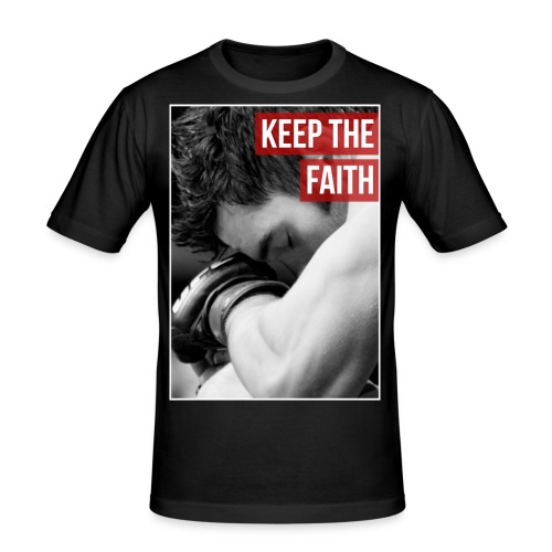 Keep the Faith UFC Shot - Men's Slim Fit T-Shirt