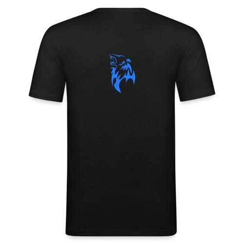 wolf blau png - Männer Slim Fit T-Shirt