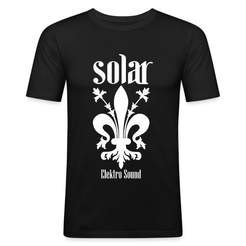 Solar Elektro Sound Logo - Männer Slim Fit T-Shirt