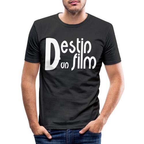 logotype_ddf noir - T-shirt près du corps Homme