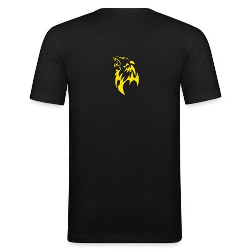 wolf gelb png - Männer Slim Fit T-Shirt