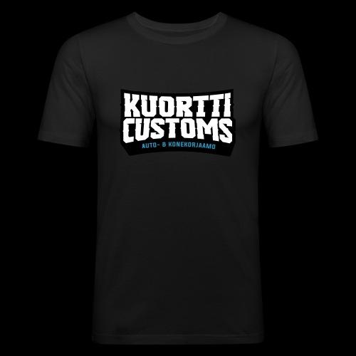 kuortti_customs_logo_main - Miesten tyköistuva t-paita
