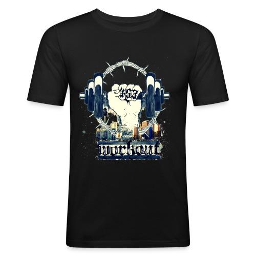 WORKOUTFINAL2 png - Männer Slim Fit T-Shirt