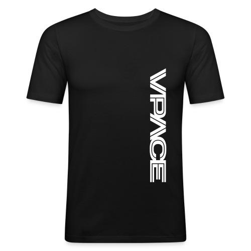 vpacelogo schwarz - Männer Slim Fit T-Shirt