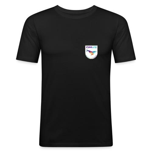 Logo 4 white gif - Männer Slim Fit T-Shirt
