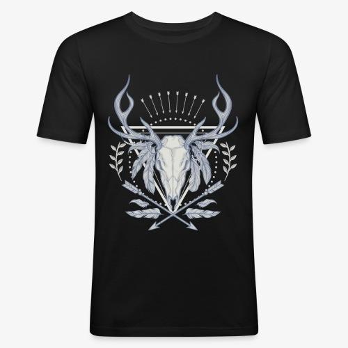 NB Apparel Logo white - Männer Slim Fit T-Shirt