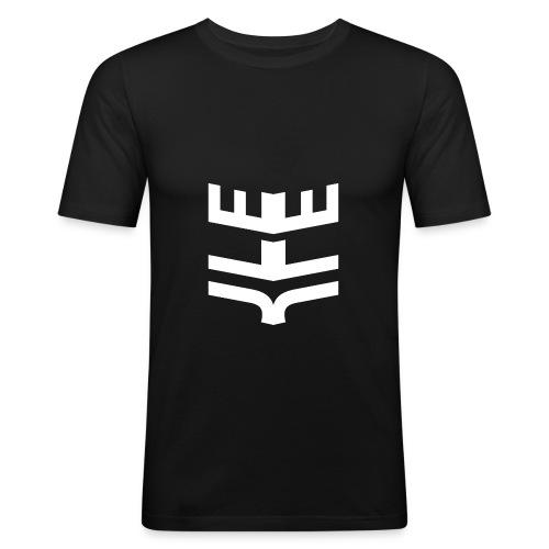 JLE JLE Logo White png - Men's Slim Fit T-Shirt