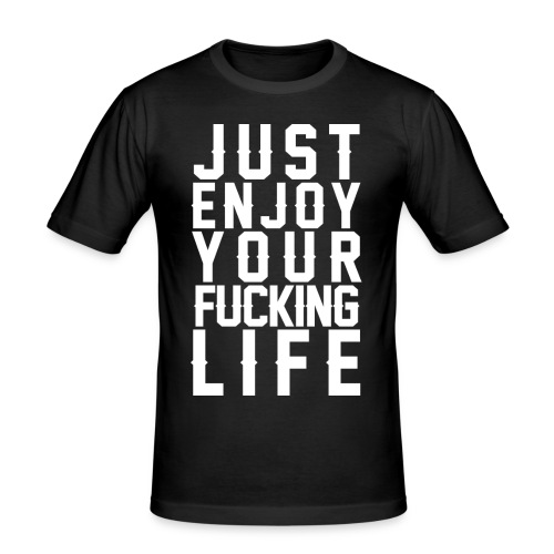 Enjoy Useless white png - Männer Slim Fit T-Shirt