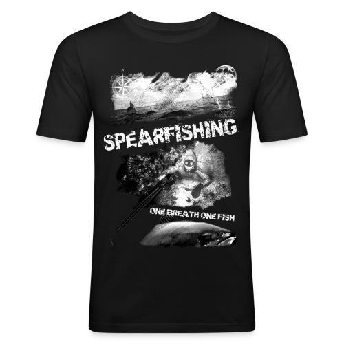 One breath, one fish - Men's Slim Fit T-Shirt